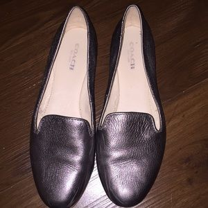Metallic Coach Carrie loafers